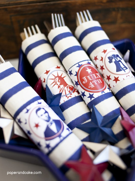 4th of july printable party decorations