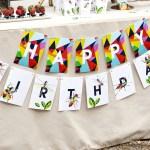 bug birthday banner