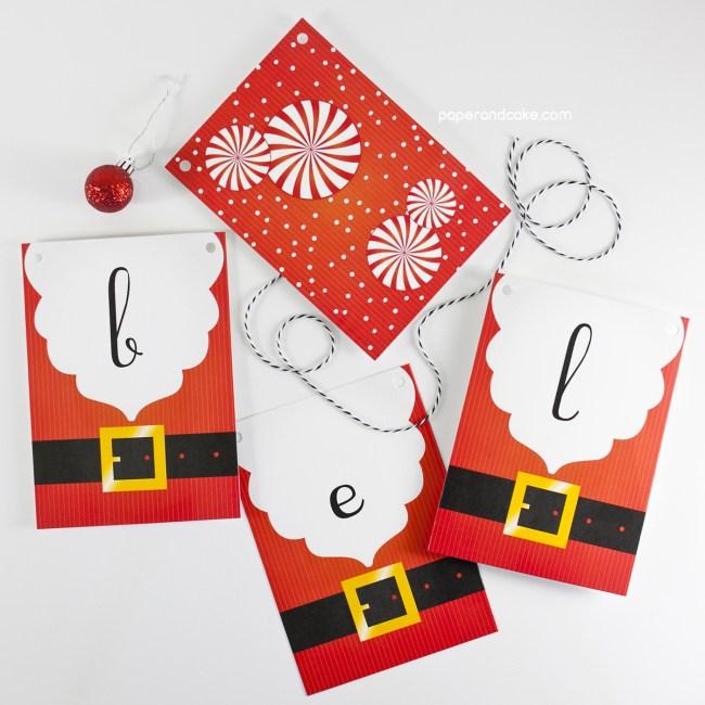 Santa Believe Pennant banner