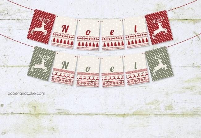 Noel Noel Pennant Banner