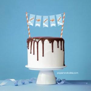 Airplane Mini-Bunting Cake Topper