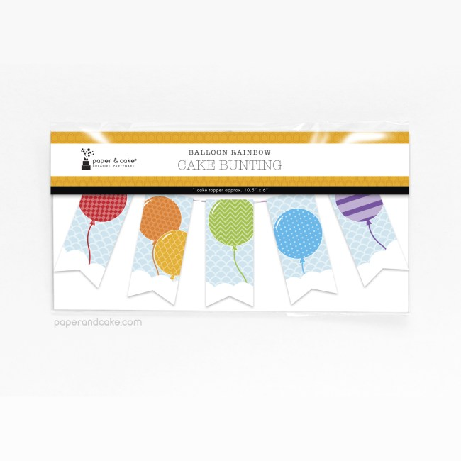 balloon rainbow cake topper pkg