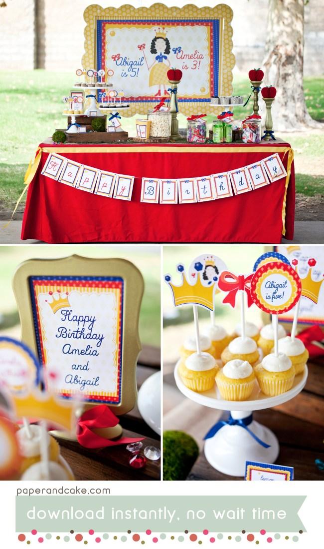 Snow Princess party decorations
