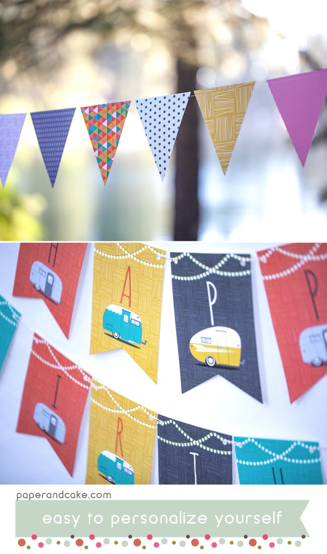 Happy Camper Party decorations