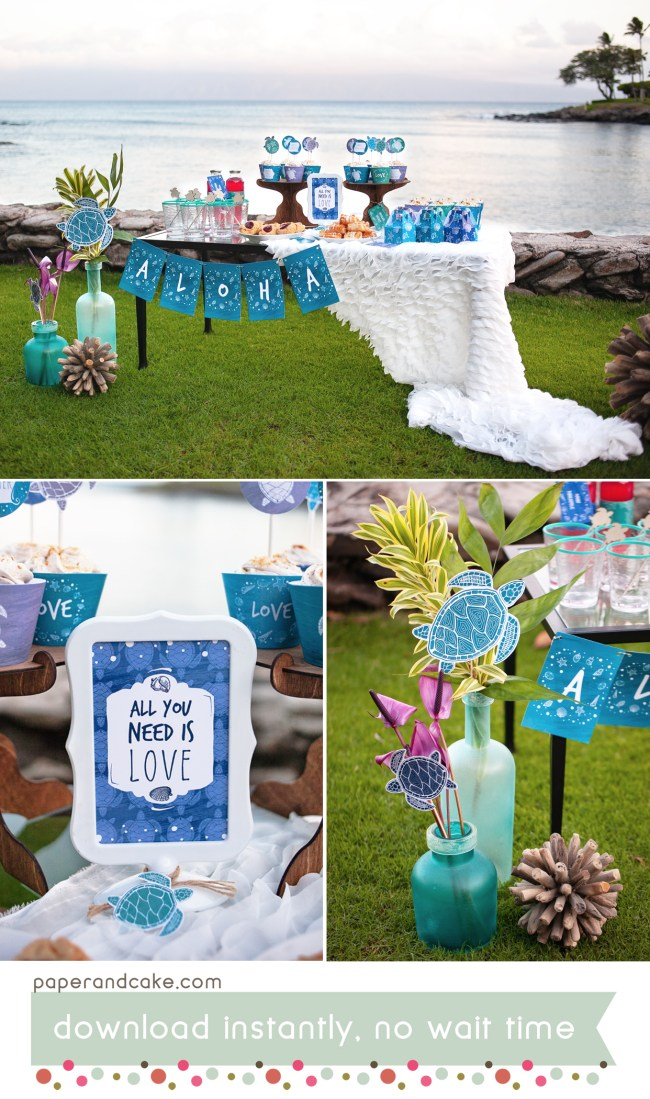 Sea Turtle Printable Party