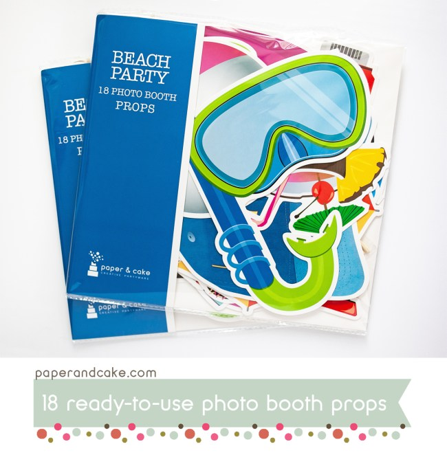 Beach Party Photo Booth Props