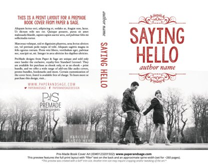 Print Layout for Pre-Made Book Cover ID#0123201502 (Saying Hello)
