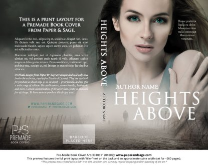 Print Layout for Pre-Made Book Cover ID#0311201602 (Heights Above)