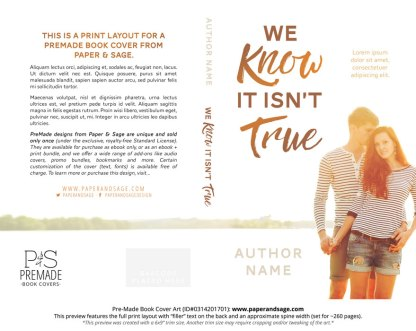 Print Layout for Pre-Made Book Cover ID#0314201701 (We Know it isn't True)