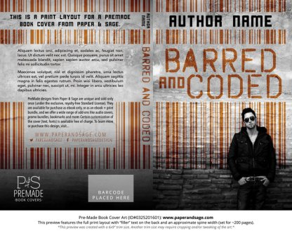 Print layout for Pre-Made Book Cover ID#0325201601 (Barred and Coded)
