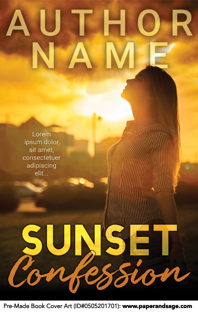 Pre-Made Book Cover ID#0505201701 (Sunset Confessions)