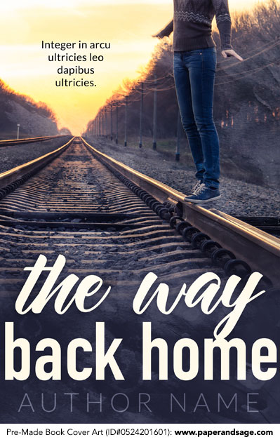 Pre-Made Book Cover ID#0524201601 (The Way Back Home)