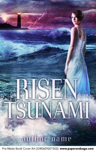 Pre-Made Book Cover ID#0609201502 (Risen Tsunami)