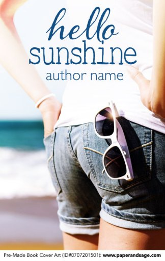Pre-Made Book Cover ID#0707201501 (Hello Sunshine)