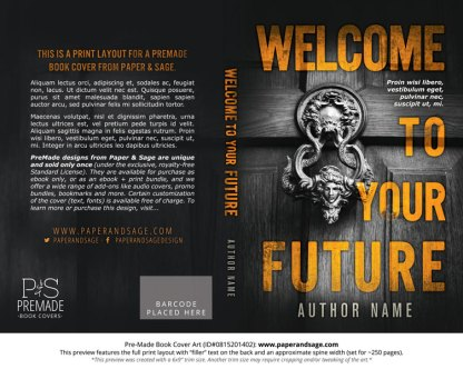 Print layout for Pre-Made Book Cover ID#0815201402 (Welcome to Your Future)