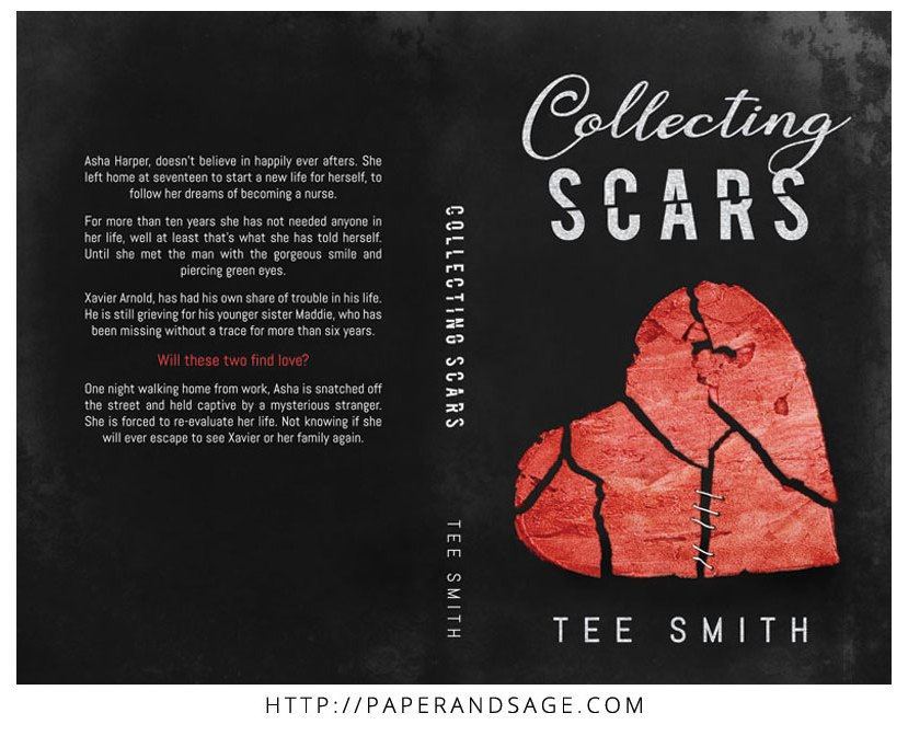 Print layout for Collecting Scars by Tee Smith
