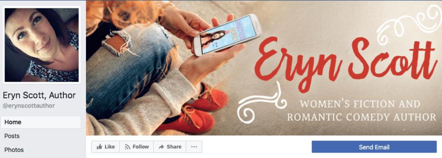 Add-On Example: Facebook Header for Eryn Scott