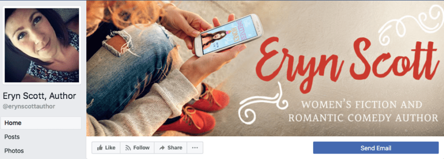 Add-On Example: Facebook Header for Eryn Scott