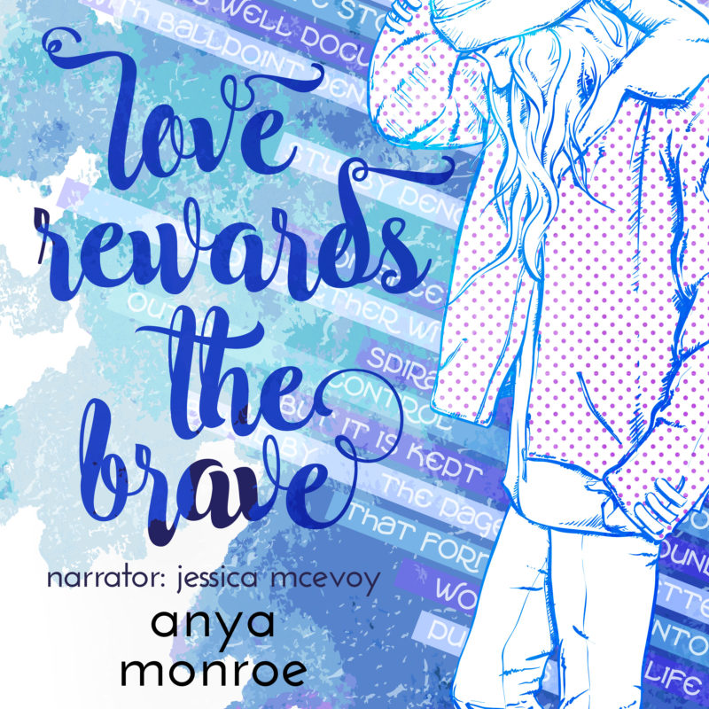 Add-On Example: Audiobook cover for Love Rewards the Brave by Anya Monroe