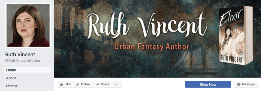 Add-On Example: Facebook Header for Ruth Vincent