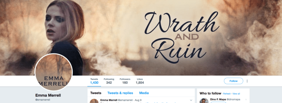 Add-On Example: Twitter Header for Wrath and Ruin