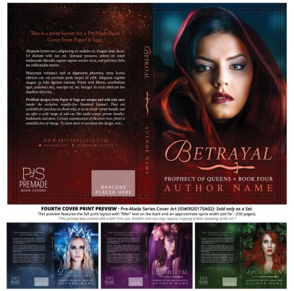 Print layout for PreMade Series Covers ID#092017SA02 (Prophecy of Queens Series, Only Sold as a Set)