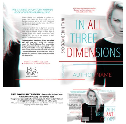 Print Layout for PreMade Series Covers ID#092017SE01 (In All Three Dimensions Series, Only Sold as a Set)