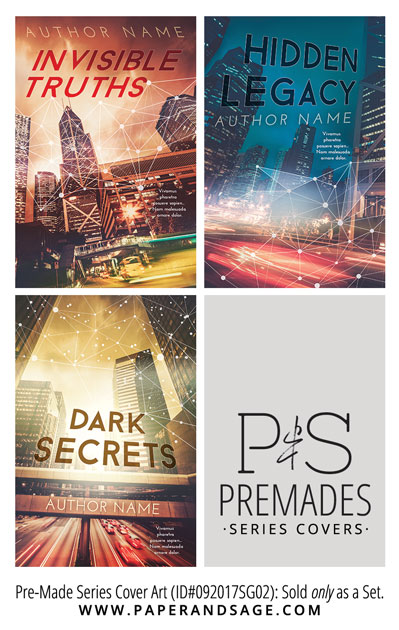 PreMade Series Covers ID#092017SG02 (Invisible Truths, Only Sold as a Set)