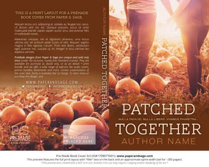 Print Layout for Pre-Made Book Cover ID#170907TA01 (Patched Together)