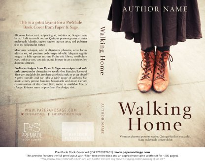 Print layout for Pre-Made Book Cover ID#171008TA01 (Walking Home)