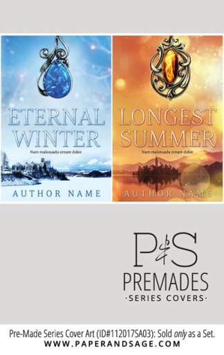 PreMade Series Covers ID#112017SA03 (Eternal Winter Series, Only Sold as a Set)