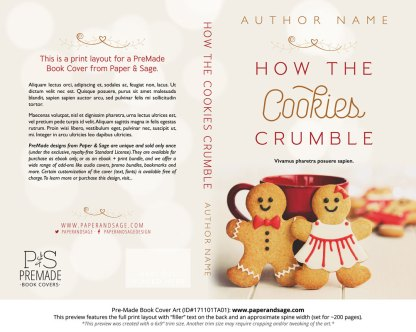 Print layout for Pre-Made Book Cover ID#171101TA01 (How the Cookies Crumble)