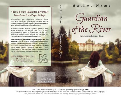 Print layout for Pre-Made Book Cover ID#171105TA02 (Guardian of the River)