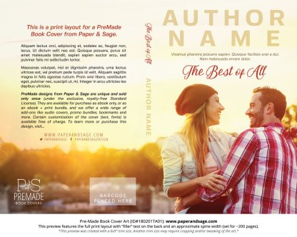 Print layout for Pre-Made Book Cover ID#180201TA01 (The Best of All)