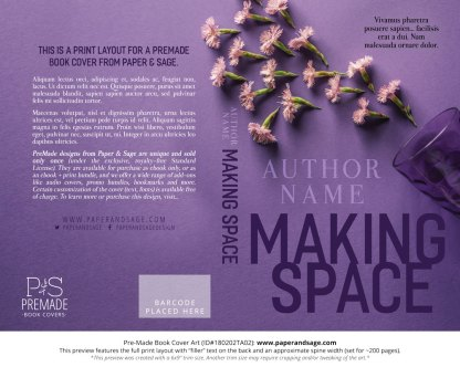Print layout for Pre-Made Book Cover ID#180202TA02 (Making Space)