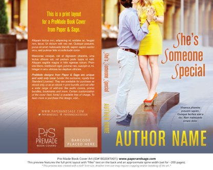 Print layout for Pre-Made Book Cover ID#180204TA01 (She's Someone Special)
