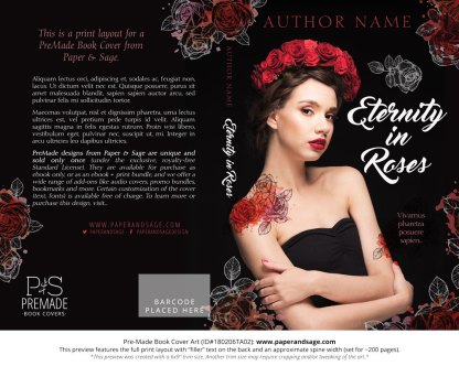 Pre-Made Book Cover ID#180206TA02 (Eternity in Roses)