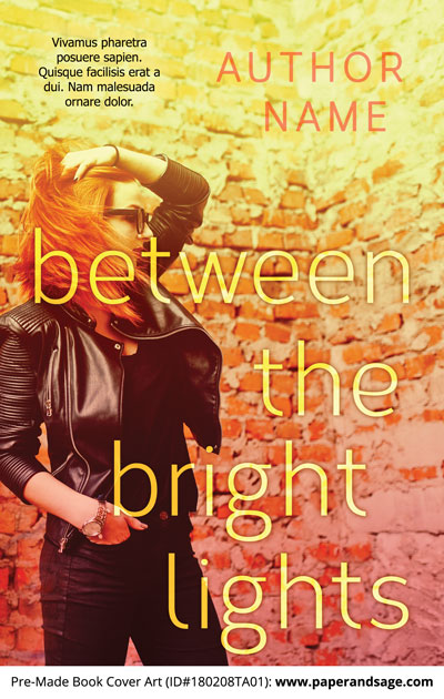 Pre-Made Book Cover ID#180208TA01 (Between the Bright Lights)