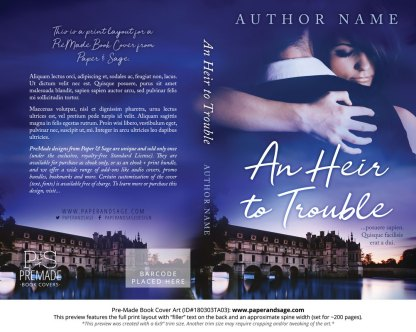 Print layout for Pre-Made Book Cover ID#180303TA03 (An Heir to Trouble)