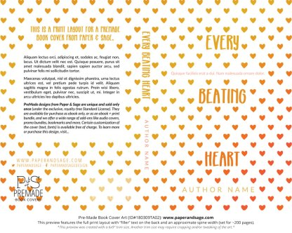Print Layout for Pre-Made Book Cover ID#180309TA02 (Every Beating Heart)