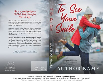 Print layout for Pre-Made Book Cover ID#180312TA01 (To See Your Smile)