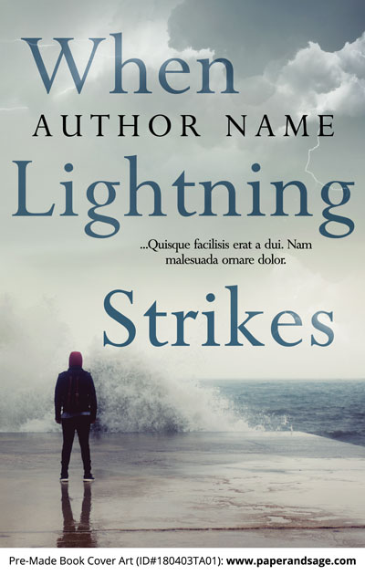 Pre-Made Book Cover ID#180403TA01 (When Lightning Strikes)