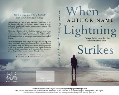 Print layout for Pre-Made Book Cover ID#180403TA01 (When Lightning Strikes)