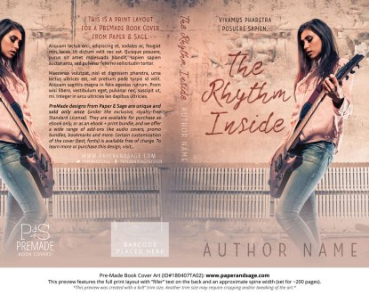 Print layout for Pre-Made Book Cover ID#180407TA02 (The Rhythm Inside)