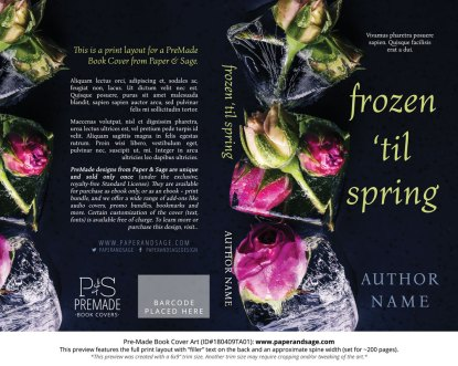 Print layout for Pre-Made Book Cover ID#180409TA01 (Frozen 'til Spring)