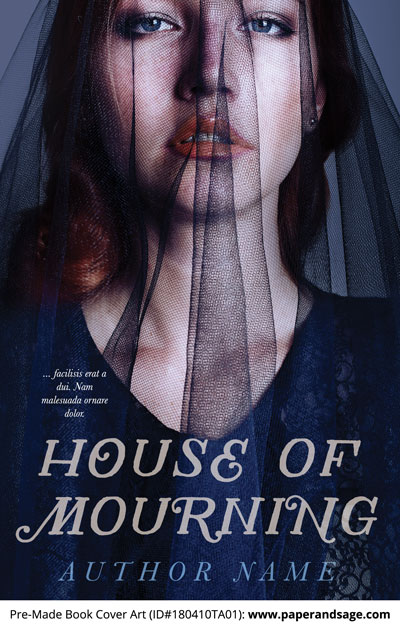 Pre-Made Book Cover ID#180410TA01 (House of Mourning)