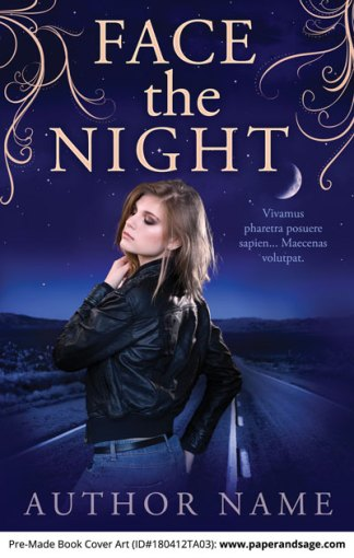 Pre-Made Book Cover ID#180412TA03 (Face the Night)
