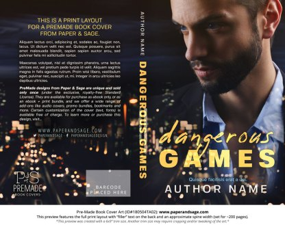 Print layout for Pre-Made Book Cover ID#180504TA02 (Dangerous Games)