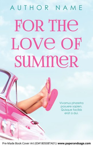 Pre-Made Book Cover ID#180508TA01 (For the Love of Summer)