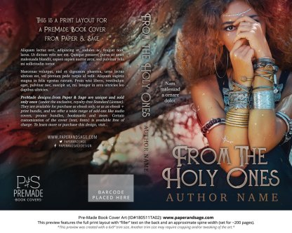 Print layout for Pre-Made Book Cover ID#180511TA02 (From the Holy Ones)